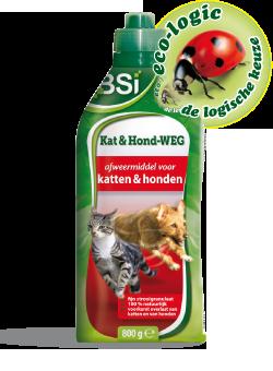 Kat- & Hond-Weg: hou katten en honden op afstand.